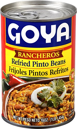 Goya Foods Refried Pinto Beans Rancheros, 16 Ounce (Pack of 12) by Goya
