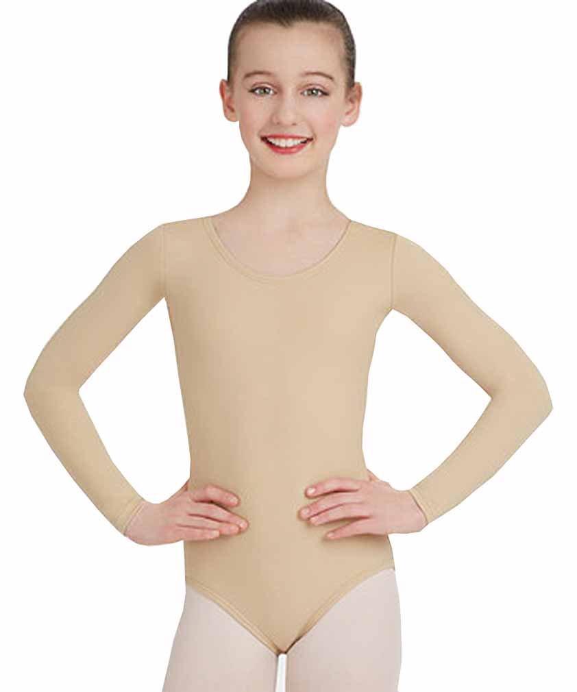 Mädchen Baumwolle Langarm Trikots dehnbar Tanz / Gymnastik / Ballett Sport Farbe & Größen ref 3350