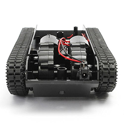 Littleice Smart Robot Tank Car Chassis Kit Rubber Track Crawler With Arduino 130 Motor Tracked Vehicle (Tracked Vehicle Chassis Kit)