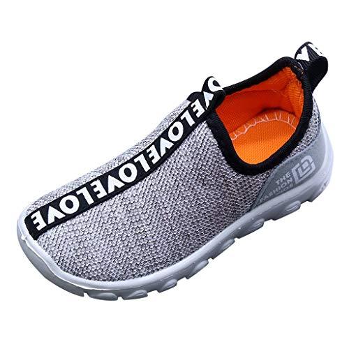 Haalife◕‿ Toddler Boys Girls Lightweight Mesh Sneakers Kids Athletic Running Flat sheo for Baby Toddler Kids Gray