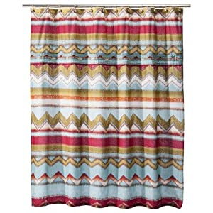 Boho Boutiqueâu201e¢ Zazza Pleated Shower Curtain