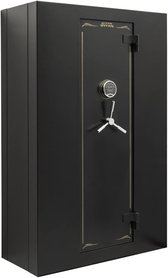 Snapsafe Titan Large Digital Modular Safe, Storage für Firearms und Valuables für Zuhause oder Office, Security Pistole Safe W/Electronic Lock, Fire Protection, Measures 59 H X 38 W X 17.5 D- Black