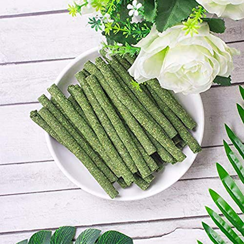 25pcs Natural Grass Stick Molar Rod Pet Snacks Chew Toys for Rabbit Hamsters Guinea Pig Chinchillas Squirrel (Timothy)