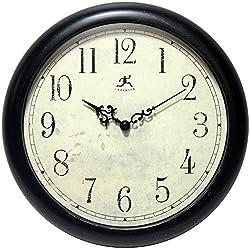Infinity Instruments Alistaire 12 Inch Antique Black Indoor/Outdoor Wall Clock