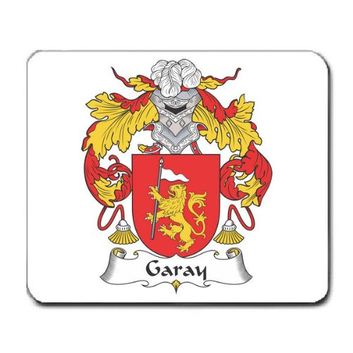 Garay Family Crest Coat of Arms Mouse Pad
