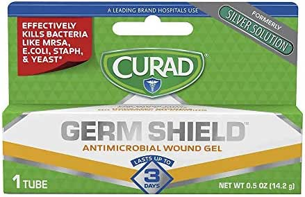 Curad GermShield Silver Solution Antimicrobial Gel 0.50 oz (Pack of 3)
