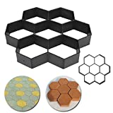 Cheap Hongxin Paving Molds Stone Walk DIY Maker, Gardening 8/9 Grids Pathmate Stone Mold Paving Concrete Stepping Pavement Paver (G)