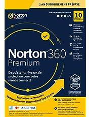 Norton 360 Premium 2020 | Antivirus pour 10 appareils et un an d'abonnement avec renouvellement automatique | Secure VPN et Password Manager | PC/Mac/iOS/Android | Code d'activation - envoi par email