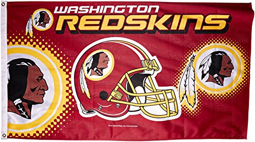 Rico NFL Washington Redskins 3-Foot by 5-Foot Single Sided Banner Flag with Grommets