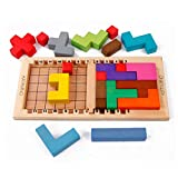 Kids Wooden Katamino Classic Puzzle and Game Toy Intellectual Imagination Development Color Cognitive Toy