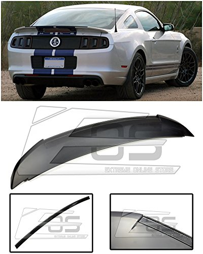 Extreme Online Store EOS GT500 Style CARBON FIBER Rear Trunk Lid Wing Spoiler For 2010-2014 Ford Mustang ALL Models 2010 2011 2012 2013 2014 10 11 12 13 (Mustang Gt500 Carbon Fiber)