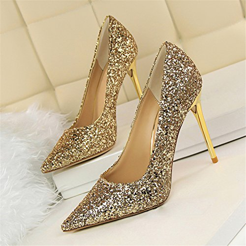 Shoes High Toe Ladies 2017 Woman Fashion Kenavinca Bling White Pointed Summer Pumps Shoes Heels Victoria Women's Women Wedding 7qqaUY