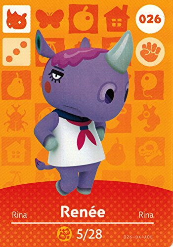 - Animal Crossing Happy Home Designer Amiibo Card Renee 026/100