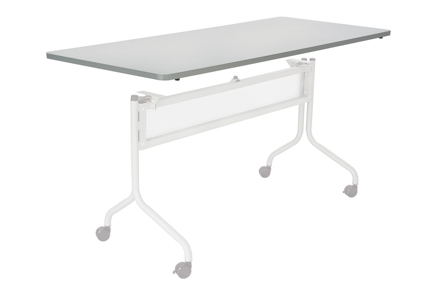 Safco Office Meeting Seminar Impromptu Mobile Training Table, Rectangle Top - 72 x 24'' Gray