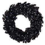 "Hallmark Keepsake Christmas Ornaments Star Galaxy Black Wreath with Lights, 30"","