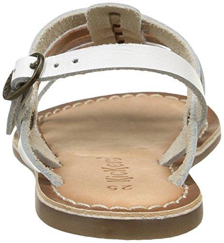 Kickers Dixmillion Mädchen Sandalen Weiß - weiß