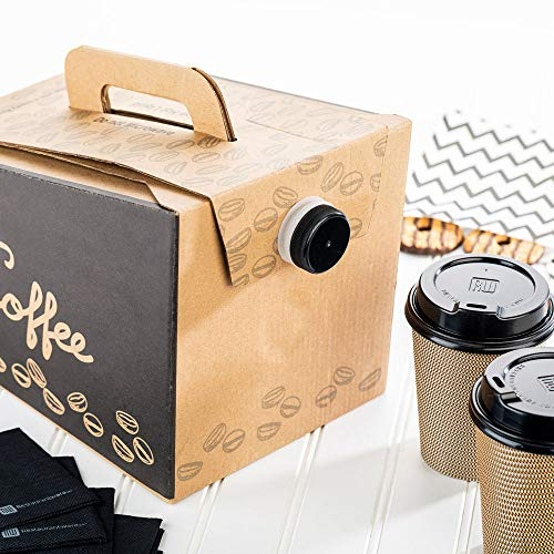 Coffee Take Out Carrier, Disposable Coffee Dispenser, Insulated Hot (12 Cup) 3