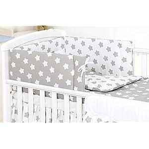 5 PCS PRO COSMO Bedding Set to FIT COT &COT Bed Pillow Duvet Bumper 100% Cotton (to fit cot 140x70cm Mattress Size, 19)