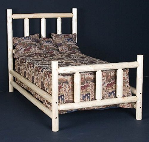 Viking Log Furniture Conventional Wooden Headboard (King - Clear)
