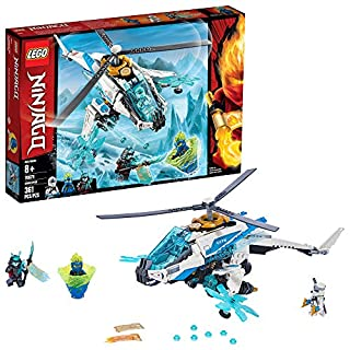 LEGO NINJAGO ShuriCopter 70673 Kids Toy Helicopter Building Set with Ninja Minifigures and Toy Ninja Weapons (361 Pieces)