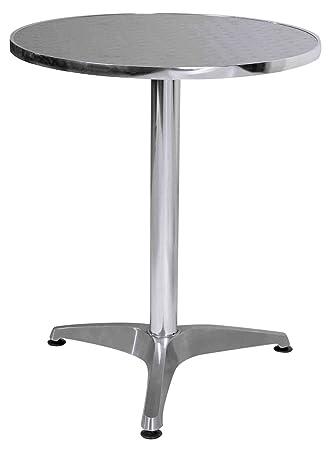 Exceptionnel Premier Housewares Aluminium Bistro Round Table, 70 X 60 X 60 Cm