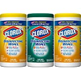 Clorox Disinfecting Wipes Value Pack - Fresh Scent and Citrus Blend - 3 Canisters - 75 Wipes each