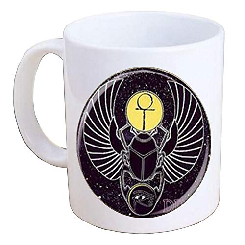 Egyptian Scarab Coffee Mug Egyptian Beetle Mug Scarab Jewelry ancient egypt jewelry, Egyptian jewelry, Scarab Mug, Egyptian Scarab, men's scarab Coffee Mug-MT115