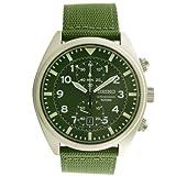 Seiko Men's SNN239P1 Chronograph Military Green Strap Watch