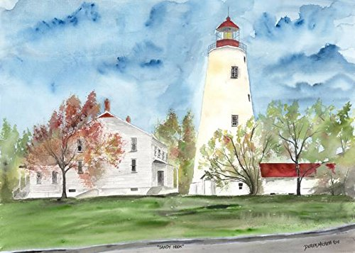 Wall Art Print entitled Sandy Hook Lighthouse Poster by Derek Mccrea