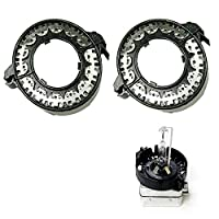 Xotic Tech D1S D3S HID Bulbs Holders Clip Rings Retainers for BMW Mercedes Cadillac, etc