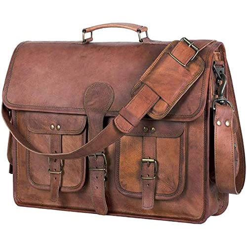 KPL 18 Inch Leather Briefcase Laptop
