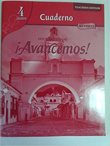 Avancemos cuaderno teachers edition level 4 holt mcdougal avancemos cuaderno teachers edition level 4 1st edition fandeluxe Images