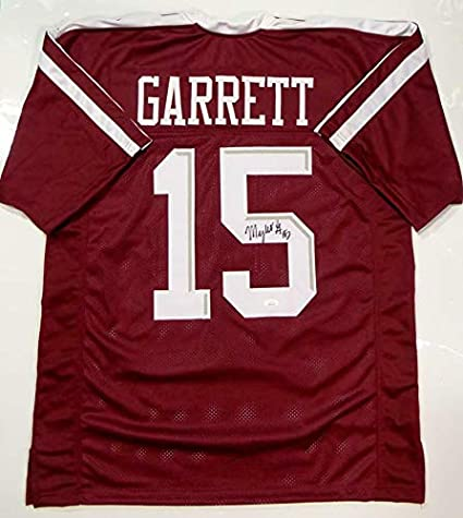 new style ab94c ec70a Myles Garrett Autographed Jersey - Maroon College Style ...