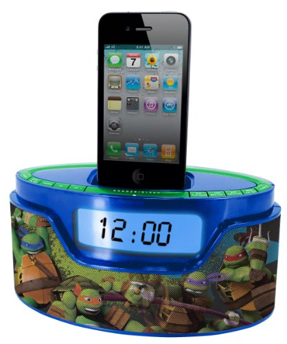 Nickelodeon Teenage Mutant Ninja Turtle iPod Clock Radio Dock (50265C-IPH)
