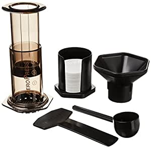 AeroPress Coffee and Espresso Maker - Quickly Makes Delicious Coffee without Bitterness - 1 to 3 Cups Per Pressing