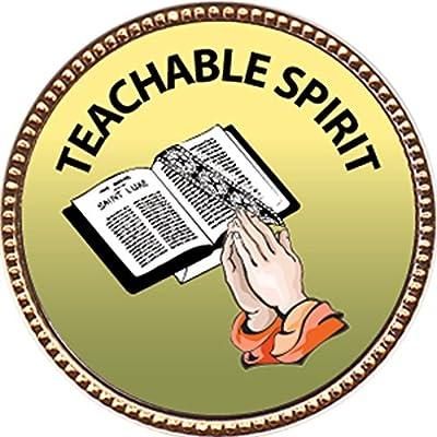 "Teachable Spirit, Award, 1 inch dia Gold Pin ""Spiritual Life Skills Collection"" by Keepsake Awards: Toys & Games"