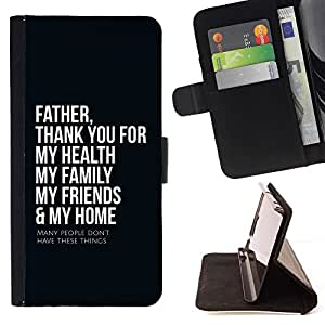 Momo Phone Case / Flip Funda de Cuero Case Cover - Padre BIBLIA Gracias; - LG Nexus 5 D820 D821