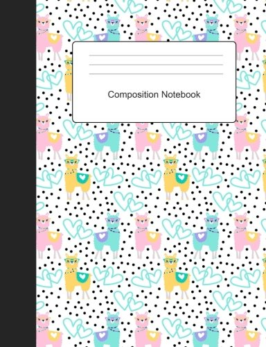 Download Composition Notebook: Llama Love Wide Ruled School Office Home Student Teacher 100 Pages pdf