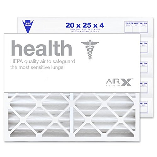 AIRx Filters Health 20x25x4 Air Filter MERV 13 Replacement for White Rodgers FR2000M-108 FR2000M-111 to Fit Media Air Cleaner Cabinet White Rodgers ACM2000M, 6-Pack
