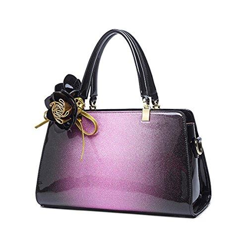 Sac Bandoulière Violet Rosa Dégradé Cuir Main Verni Bandoulière Classique de KAXIDY Sac épaule Cuir à Sac Femme Couleur Sacoche dTqwUz