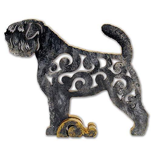 Bouvier Dog Figurine - Flanders Bouvier dog figurine, dog statue made of wood (MDF), statuette hand-painted