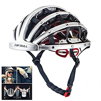 Cairbull Casco de Bicicleta Plegable,Patinaje Sobre Ruedas Scooter Rock Climbing City Sports Unisex Adulto, Ajustable 56-62 cm