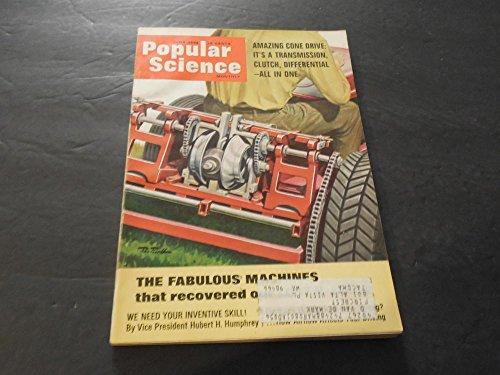Popular Science June 1966, Cone Drive: Transmission Clutch, Machines -