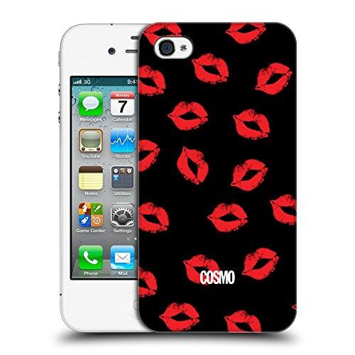 Official Cosmopolitan Black Kiss Mark Hard Back Case for Apple iPhone 4 / 4S