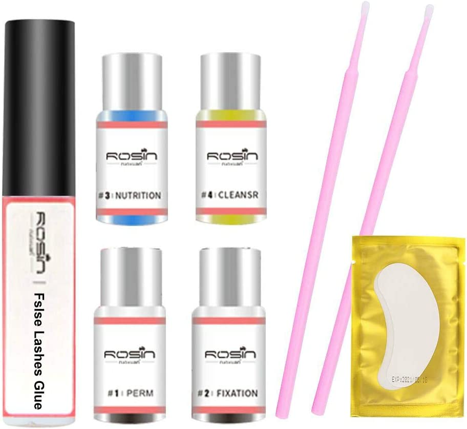 Kit de Permanente de Pestañas,Lifting Pestañas,Lash Lift Kit,Semi-permanente de pestañas rizado permanente para salón, kit de regalos
