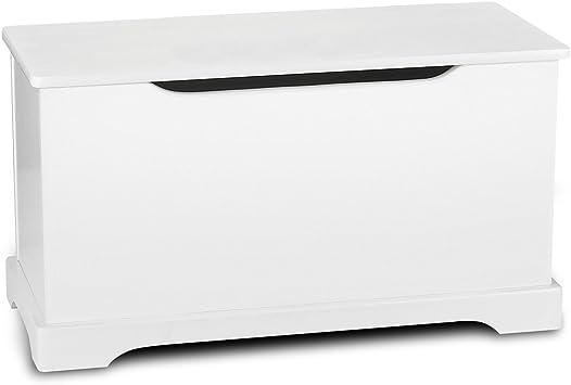 bianco Panca Mobili e Arredamento Cassapanca per bambini Portaoggetti Leomark Contenitore Porta Giochi portagiochi in legno Scatola portagiochi Stoccaggio