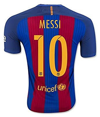 FS Barcelona Messi Neymar Suarez Home Kid Soccer Jersey & Matching Shorts (Latest Season)