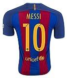 #9: FS Barcelona Messi Neymar Suarez Home Kid Soccer Jersey & Matching Shorts (Latest Season)