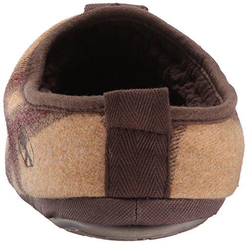 Slaapkamer Atletiek Heren Baal-check Textiel Mule Tan / Bruin