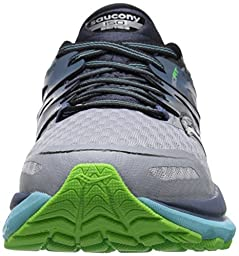 Saucony Women\'s Triumph ISO 2 Running Shoe, Grey/Blue/Slime, 8.5 W US